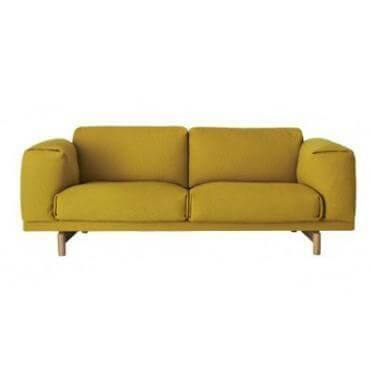 Alyssa Yellow Fabric Sofa-Megafurniture