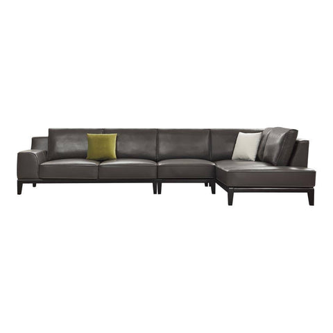 Alysse Genuine Leather Sectional Sofa-Megafurniture