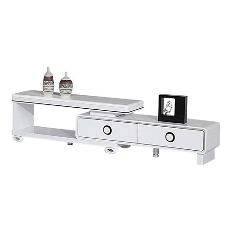 Amabel Marble Top Extendable Tv Console-Megafurniture