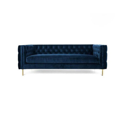Angelo Blue Velvet Sofa-Megafurniture