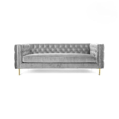 Angelo Light Grey Velvet Sofa-Megafurniture