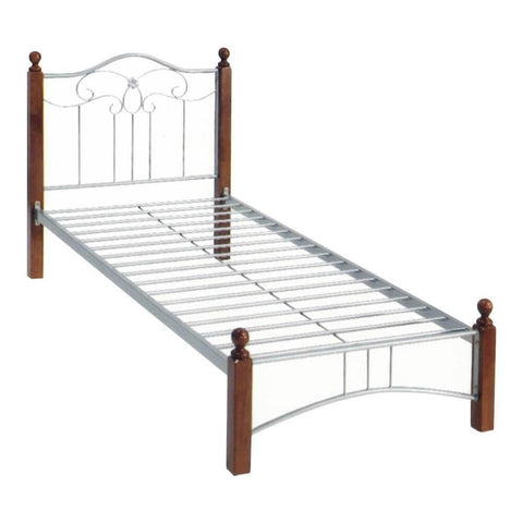 Aquila Metal Bed Frame - Wooden Frame-Megafurniture