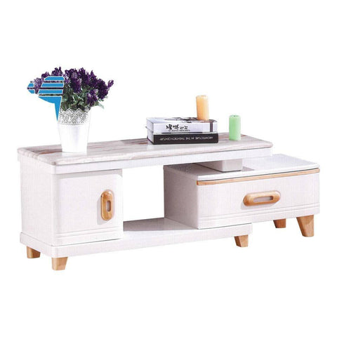 Aric Extendable Marble Tv Console-Megafurniture