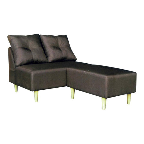 Arleena Brown Fabric L-Shape Sofa-Megafurniture