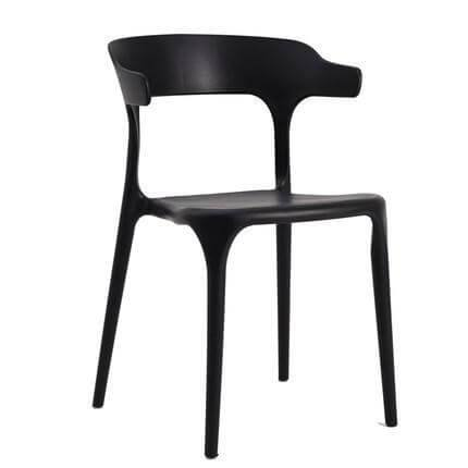 Bale Wishbone Black Chair-Megafurniture
