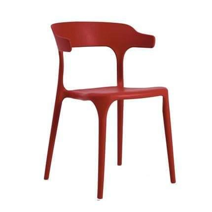 Bale Wishbone Red Chair-Megafurniture
