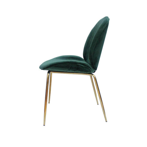 Beetle Replica Green Velvet Chair-Megafurniture