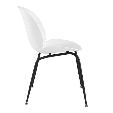 Beetle Replica White Chair-Megafurniture