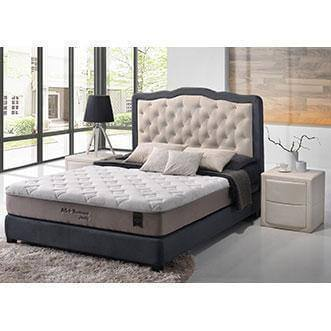 Begonia Grey Fabric Bed Frame + Honey AS Gamma Memory Foam Mattress-Megafurniture