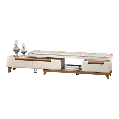 Belva Marble Extendable Tv Console-Megafurniture