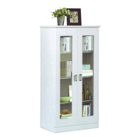 Berlin White Bookshelf-Megafurniture