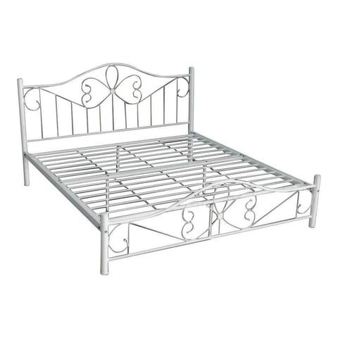 Braydon White Metal Bed Frame-Megafurniture