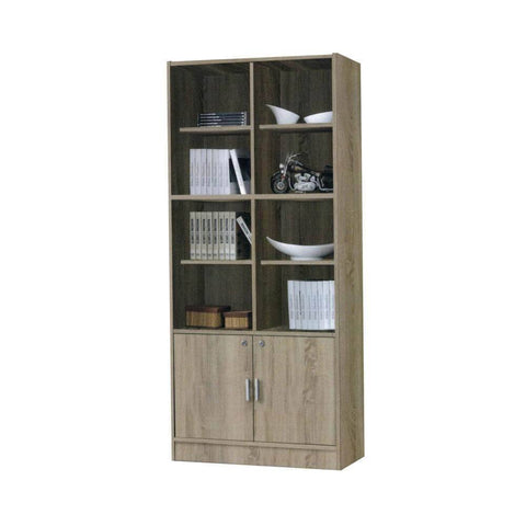 Brooks Display Cabinet/Bookshelf-Megafurniture