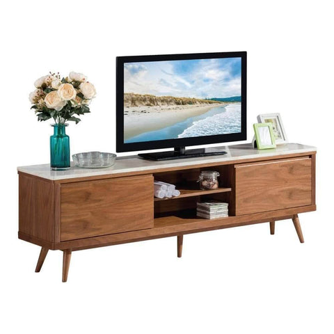 Celso Marble Top Tv Console-Megafurniture