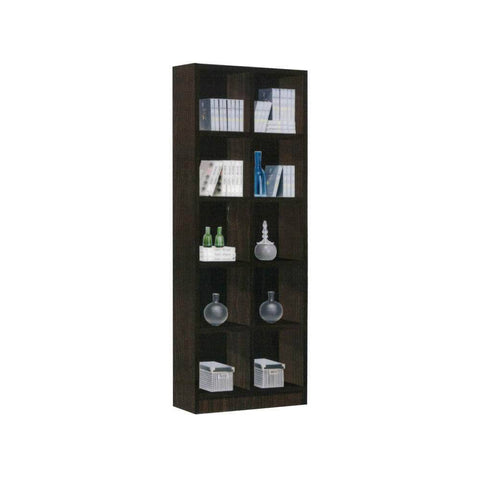 Claiborne Walnut Open Bookshelf-Megafurniture