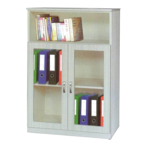 Congo II White Wash Bookshelf-Megafurniture