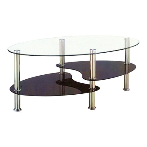 Daley Glass Coffee Table-Megafurniture