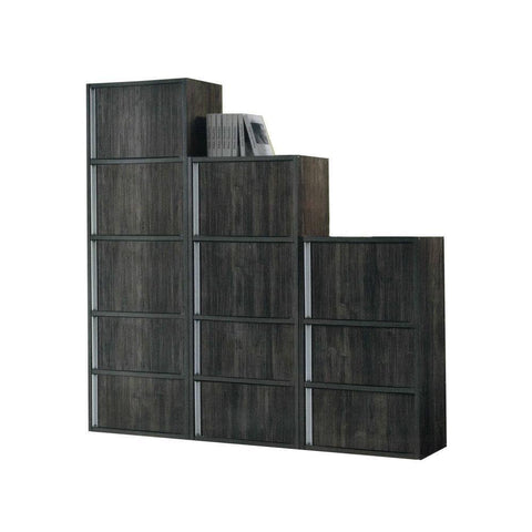 Derek Dark Oak Storage Cabinets-Megafurniture