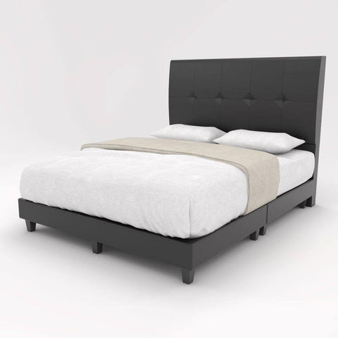 Devon Faux Leather Bed Frame-Megafurniture