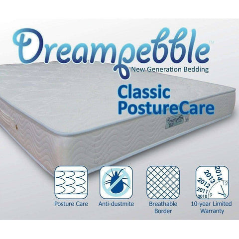 Dreampebble Classic PostureCare Spring Mattress-Megafurniture