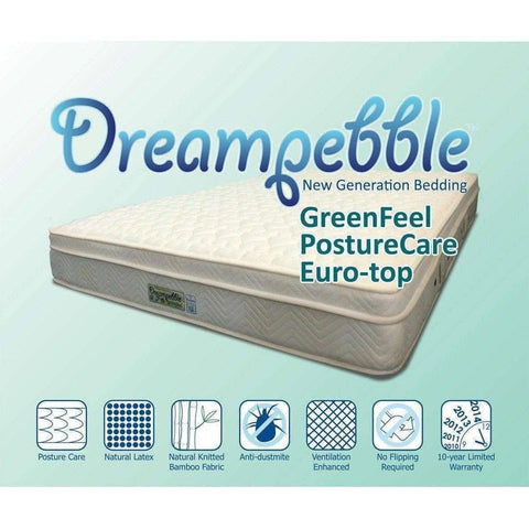 Dreampebble Greenfeel PostureCare Eurotop Spring Mattress-Megafurniture