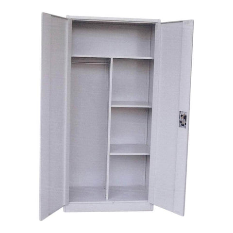 Drufus Steel 2 Door Wardrobe-Megafurniture