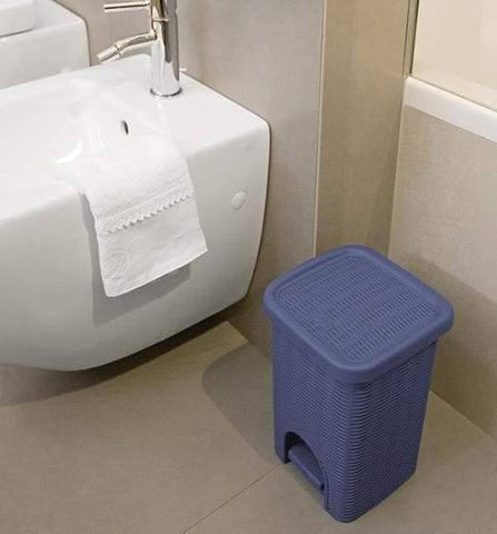 Elegance Blue Bathroom Dustbin (Stefanplast)-Megafurniture