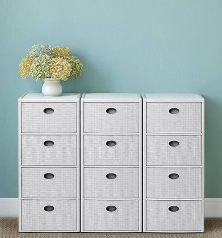 Elegance Drawer Unit White (Stefanplast)-Megafurniture