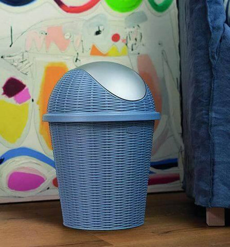 Elegance Little Swing Top Bin Blue (Stefanplast)-Megafurniture