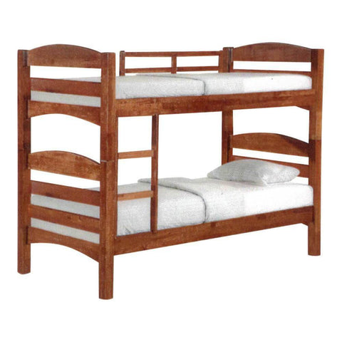 Fiona Cherry Wooden Double Decker Bed Frame-Megafurniture