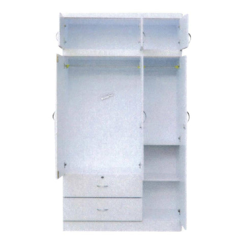 Gemini 3 Open Door Wardrobe with Top-Megafurniture
