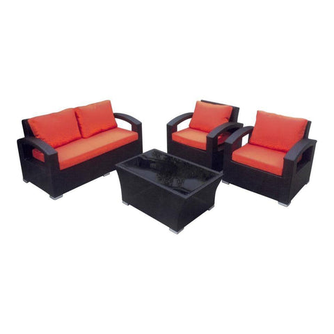 Geromy Wicker Outdoor Sofa Set-Megafurniture