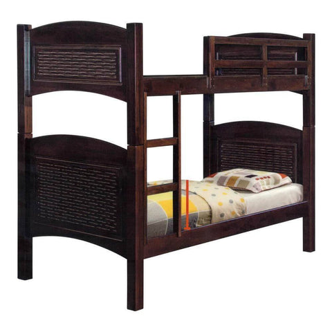 Gilles Wooden Double Decker Bed Frame-Megafurniture