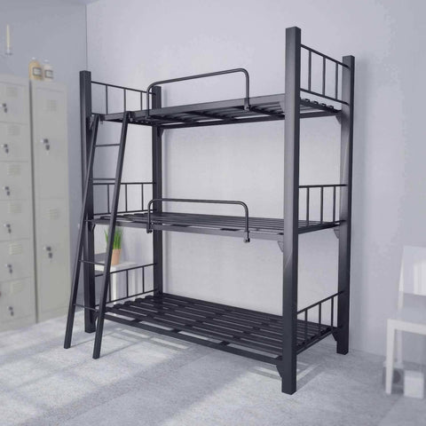 Helia Metal Bed Bunk Bed - Triple Decker-Megafurniture