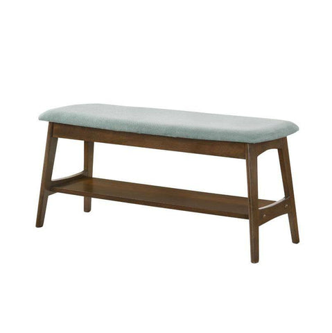 Huber Blue Fabric Dining Bench-Megafurniture