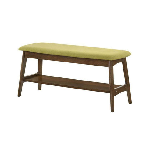 Huber Green Fabric Dining Bench-Megafurniture