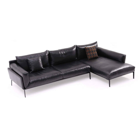 Lungo Genuine Leather Sectional Sofa by Chattel-Megafurniture