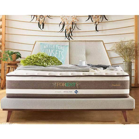 Maxcoil FORREST Eco Organic Cotton 2 Pocketed Spring Mattress-Megafurniture