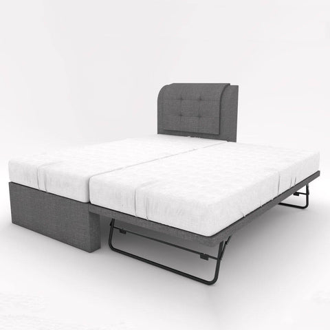 Medina Fabric 3 in 1 Pull Out Bed Frame-Megafurniture