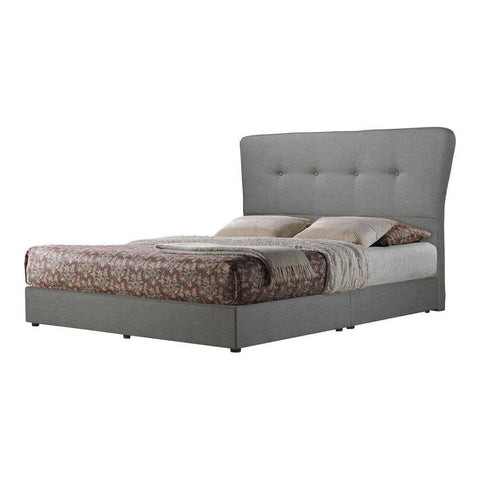 Milli Grey Fabric Bed Frame-Megafurniture