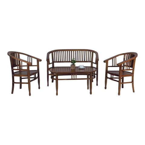 Mondola Teak Tea Set-Megafurniture