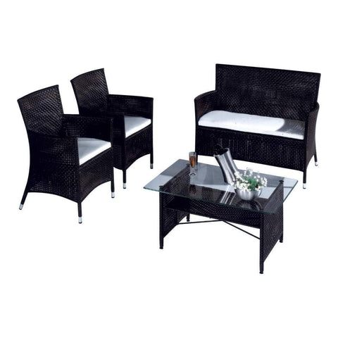 Prague Wicker Outdoor Sofa Set-Megafurniture