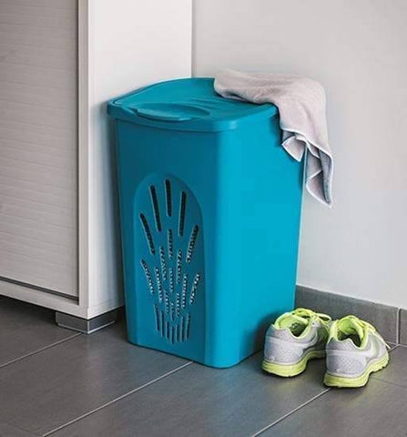 Primavera Air Flow Laundry Hamper Deep Turquoise (Stefanplast)-Megafurniture
