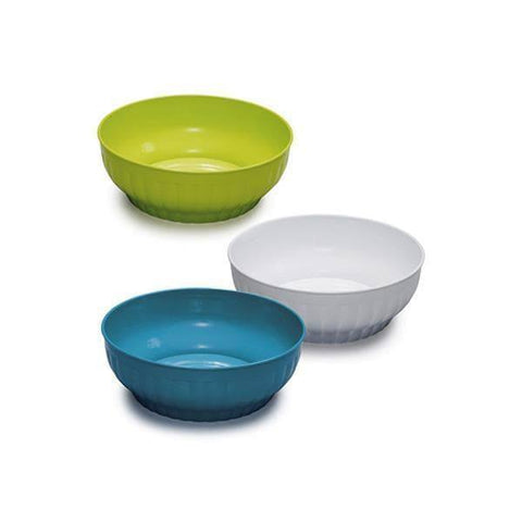 Ribbed Lime Green Salad Bowl (Stefanplast)-Megafurniture