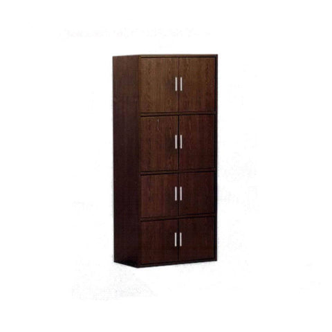 Rylee Walnut Storage Cabinet-Megafurniture
