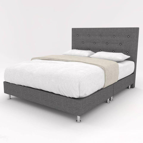 Serafina Fabric Bed Frame-Megafurniture