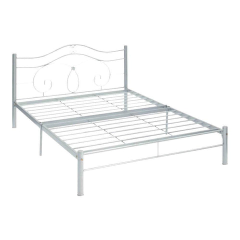 Shaula Silver Metal Bed Frame-Megafurniture