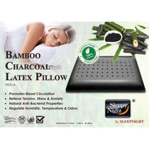 Sleepy Night Bamboo Charcoal Organic Natural Latex Pillow-Megafurniture