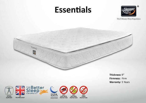 Sleepy Night Essentials Mattress-Megafurniture
