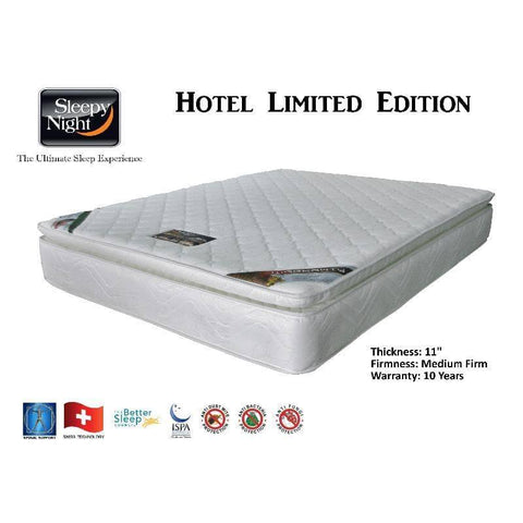 Sleepy Night Hotel Limited Edition Bonnell Spring Mattress 11 Inch-Megafurniture